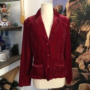 Velvet style blazer